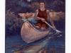 Canoeing at Rionido postcard